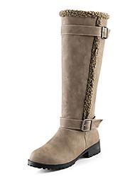 Women's Boots Winter Comfort Fleece Casual Low Heel Others Black / Yellow / Khaki Others