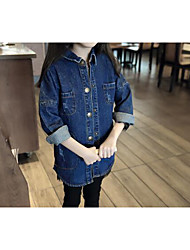 Girl's Casual/Daily Solid Jeans,Cotton Spring / Fall Blue