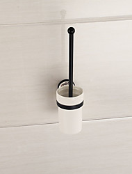Mirror Polished Finishing Bathroom Accessories Solid Brass Material Toilet Brush Holder