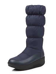 Feminino-Botas-Sapatos de Berço-Plataforma Creepers-Preto Azul Branco-Flanelado Courino-Ar-Livre Casual Festas & Noite
