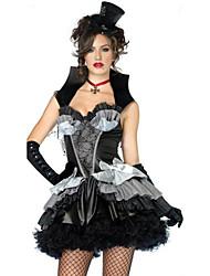 Costumes de Cosplay Sorcier/Sorcière Cosplay de Film Noir Couleur Pleine Robe / Chapeau Halloween / Carnaval Féminin Polyester