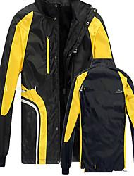 Wandern Softshell Jacken Herrn Wasserdicht / Atmungsaktiv / warm halten / Windundurchlässig / tragbar Winter Terylen SchwarzM / L / XL /