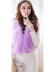 Sign ~ Puff plush luxury Leather grass shawl cardigan ladies wind temperament short coat