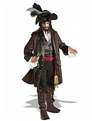 Fantasias de Cosplay Festa a Fantasia Baile de Máscara Pirata Cosplay de Filmes Casaco Camisa Calças Cinto ChapéuDia Das Bruxas Natal