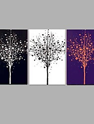 Handpainted Abstract Oil Painting Black White Purple Tree Landscape Home Decor Stretchered Frame