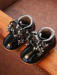 Girl's Boots Comfort Patent Leather Casual Black Pink Gray