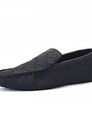 Men's Flats Summer / Fall Moccasin PU Casual Flat Heel Slip-on Black / Green / Gray Others