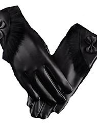 грелки сенсорный экран перчатки (черные)