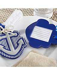 Nautical Anchor Rubber Luggage Tag Favor