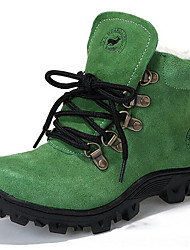 Unisex Boots Spring / Fall / Winter Cowboy / Western Boots / Snow Boots Suede Outdoor / Casual Flat Heel Blue / Green