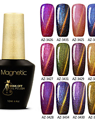 Azure 12ml Chameleon Magnetic Gel Nail Polish Soak off UV Color Gel Long Lasting