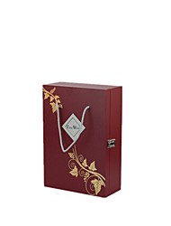 Size 25*11*36cm Red Leather Box Double Branch Wine Box
