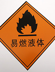 PVC Safety Signs (A Pack Of 5 A Pack Of A Flammable Liquid)