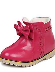 Girl's Boots Fall / Winter Snow Boots / Comfort PU /  Dress / Casual Flat Heel Zipper Black / Pink / Red Walking
