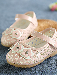 Girls' Flats Comfort First Walkers Leather Spring Summer Fall Casual Outdoor Comfort First Walkers Applique Magic Tape Flat HeelWhite