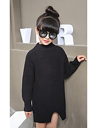 Girl's Casual/Daily Solid Sweater & CardiganWool Winter / Spring / Fall Black