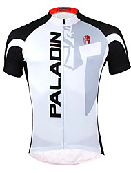 ILPALADINO Cycling Jersey Men's Short Sleeves Bike Jersey Tops Quick Dry Ultraviolet Resistant Front Zipper Breathable Back Pocket