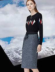 Damen Röcke - Einfach Knielang Wolle / Polyester Unelastisch