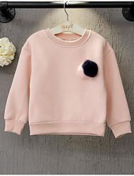 Pull à capuche & Sweatshirt Fille de Couleur Pleine Décontracté / Quotidien Coton Hiver / Automne Rose / Jaune