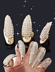 3Pcs/Set  Punk Wind Luxury Set  Auger  Demon  Cat's Paws  Ring  Fingertip
