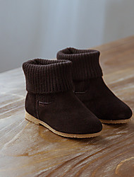 Girls' Boots Comfort Suede Casual Black Red Light Brown