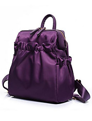 Women Nylon Casual Backpack Purple