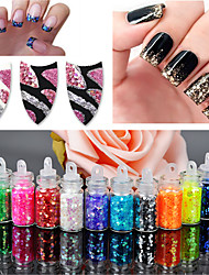12PCS Nail Art Décoration strass Perles Maquillage cosmétique Nail Art Design