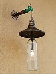 AC 220V-240V 3W E27 BGB009 Edison Retro Decorative Water Pipe Wine Bottle Wall lamp Wall Light