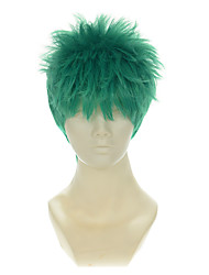 One Piece Roronoa Zoro Mixed Blue-Green Halloween Wigs Synthetic Wigs Costume Wigs