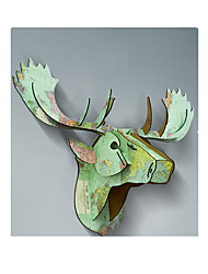 Christmas Decoration Wood Deer Head