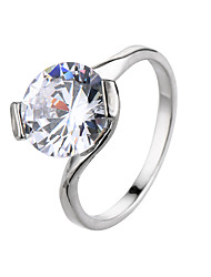 CZ Diamond Jewelry Women Silver Rings  Elegant Wedding Engagement Bague for Lady Bijoux