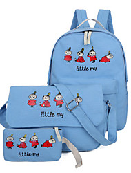Women Canvas Casual / Outdoor Bag Sets White / Pink / Blue / Green / Black