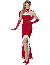 Women'S  Off Shoulder Christmas Party Long Gown Dress