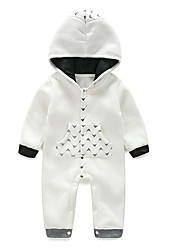 Baby Casual/Daily SolidCotton-Spring-White