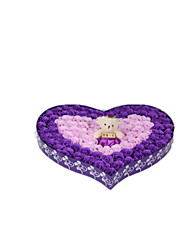 Note The Purple And Bear   Size 41*37*5cm 92 Roses Soap Flowers Bear Birthday Gift Box