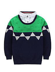 Boy's Casual/Daily Plaid Sweater & CardiganCotton Winter / Fall Green / Red / Yellow