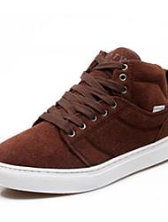 Men's Sneakers Spring / Fall Comfort Fabric Casual Flat Heel Black  / Brown / Red / Gray / Khaki Sneaker