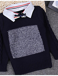 Boy's Casual/Daily Solid Sweater & CardiganWool Winter / Spring / Fall Black / Red / Gray
