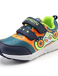 Unisex Sneakers Spring / Fall Comfort PU Casual Flat Heel Slip-on Black / Royal Blue / Burgundy Sneaker