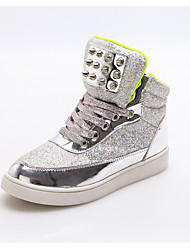 Unisex Sneakers Spring Fall Comfort Synthetic Outdoor Casual Low Heel Others Pink Silver Others