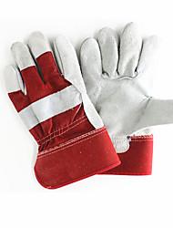 dos capas de tela de cuero (# 236) guantes de protección 2 pares acondicionadas para su venta