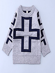Boy's Casual/Daily Patchwork Sweater & CardiganCotton Spring / Fall Gray