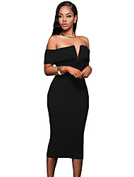 Women's Off-the-shoulder Midi Dress
