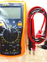 multimètre numérique (a830l noir orange)