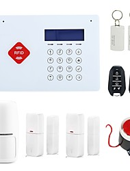 RFID Wireless GSM Home Security Alarm System Burglar House Safety with LCD Voice Touch Keypad Doorbell Android IOS App