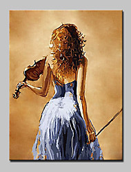 100% Hand Painted Girl Figure Oil Painting On Canvas Modern Abstract Wall Art Picture For Living Room Home Decoration Ready To Hang