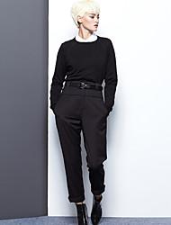 De las mujeres Pantalones Chinos-Simple Rígido-Rayón / Poliéster
