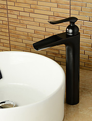 Contemporary Style ORB Single Handle One Hole Hot and Cold Water Bathroom Sink Faucet