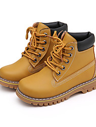 Girl's Boots Fall Winter Comfort Snow Boots PU Dress Casual Flat Heel Others Yellow