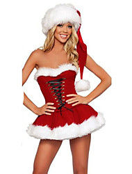 Women's Elegant Off Shoulder Bondage Christmas Dress Fancy Xmas Costume